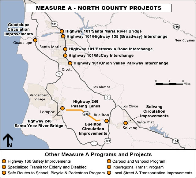 North County Projects Map